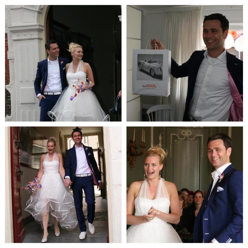 Rob Tool in zijn Napolitaans blauwe trouwpak! Tillemans Tailors voelde zich vereerd om voor hem dit mooie trouwpak te mogen maken!