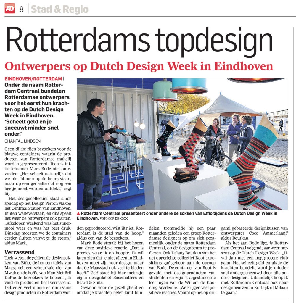Effio tijdens de dutch design week.
