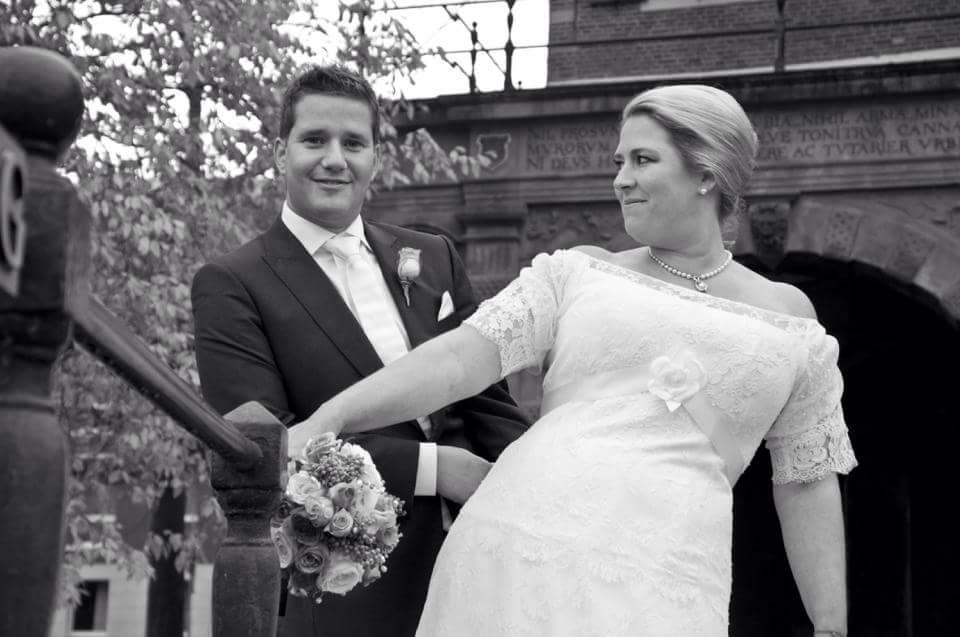 Een maatpak als trouwpak bij Tillemans Tailors te Hoorn. Mark & Meta: Van harte!!