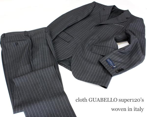 Een pak gemaakt van stof van Guabello